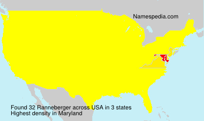 Surname Ranneberger in USA