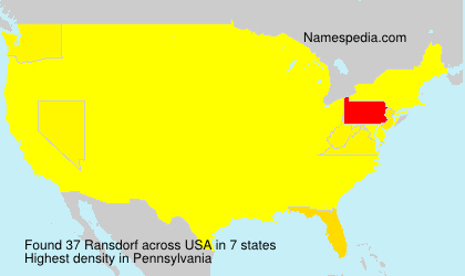 Surname Ransdorf in USA