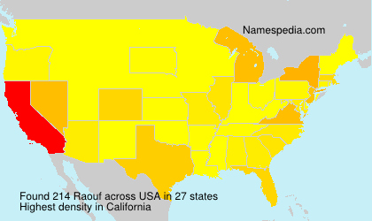 Surname Raouf in USA
