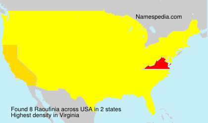 Surname Raoufinia in USA