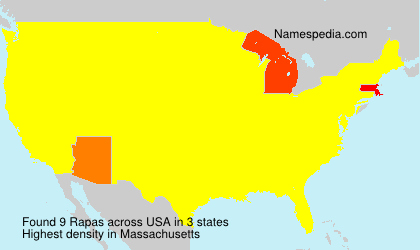 Surname Rapas in USA