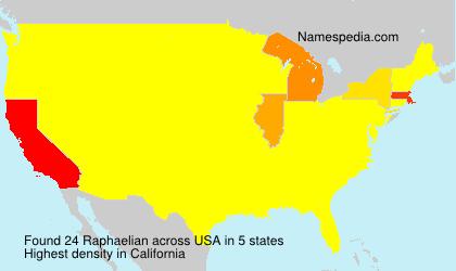 Surname Raphaelian in USA