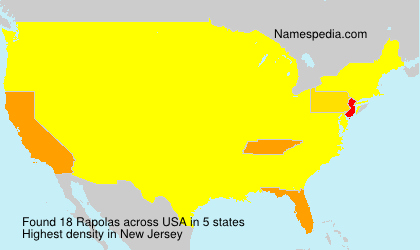 Surname Rapolas in USA