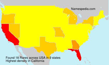 Surname Rares in USA