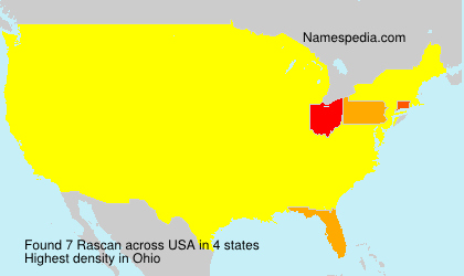 Surname Rascan in USA