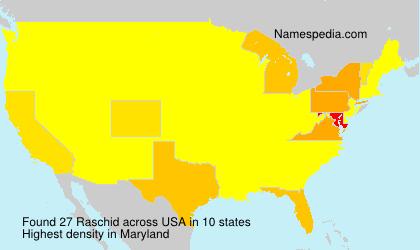 Familiennamen Raschid - USA