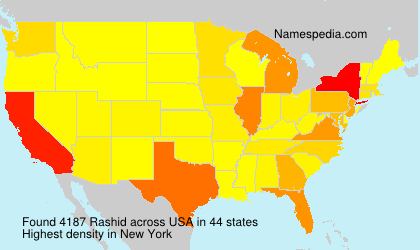 Familiennamen Rashid - USA