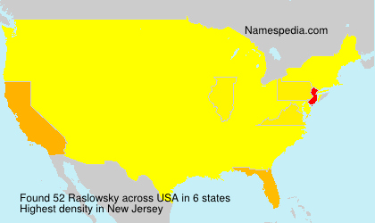 Surname Raslowsky in USA