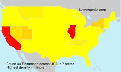 Surname Rasmason in USA
