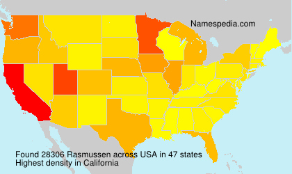Surname Rasmussen in USA