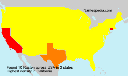 Familiennamen Rasten - USA