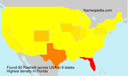 Surname Rastrelli in USA