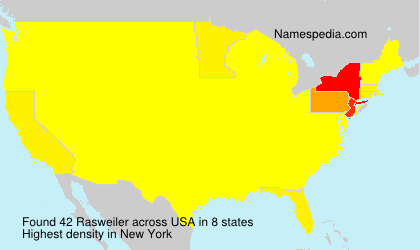 Surname Rasweiler in USA