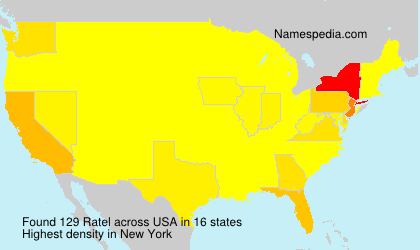 Surname Ratel in USA