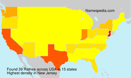 Surname Rathee in USA