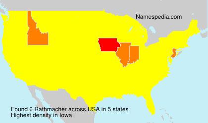 Surname Rathmacher in USA