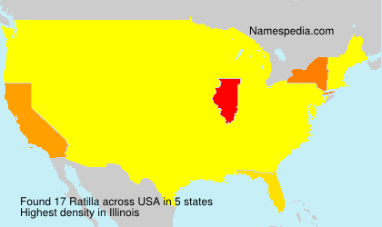 Surname Ratilla in USA