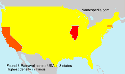 Surname Ratnavel in USA