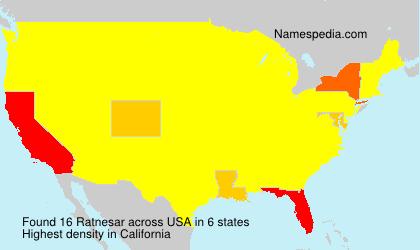 Surname Ratnesar in USA