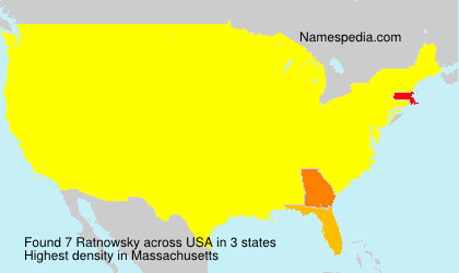 Surname Ratnowsky in USA