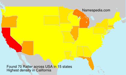 Familiennamen Ratter - USA