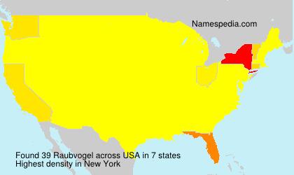 Surname Raubvogel in USA