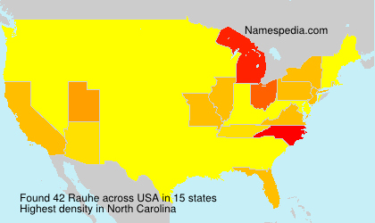 Surname Rauhe in USA