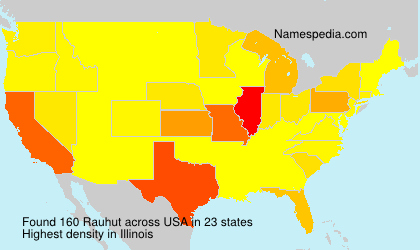 Surname Rauhut in USA