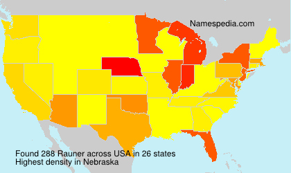 Surname Rauner in USA