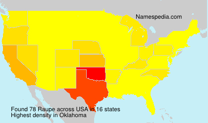 Surname Raupe in USA
