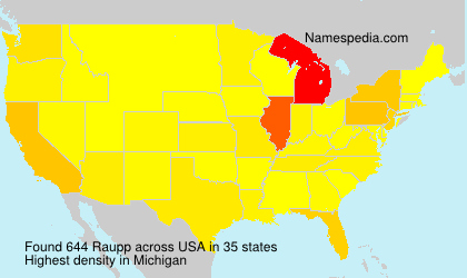 Surname Raupp in USA