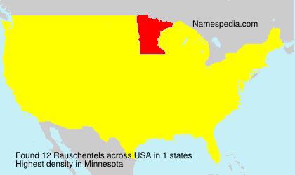 Familiennamen Rauschenfels - USA