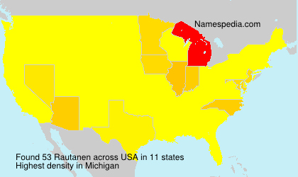 Surname Rautanen in USA