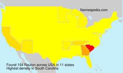 Surname Rauton in USA