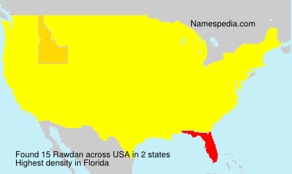 Surname Rawdan in USA