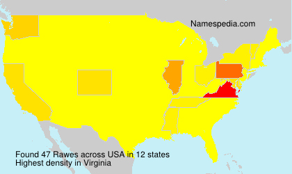 Surname Rawes in USA