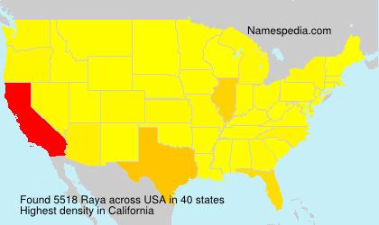 Surname Raya in USA