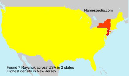 Surname Raychuk in USA