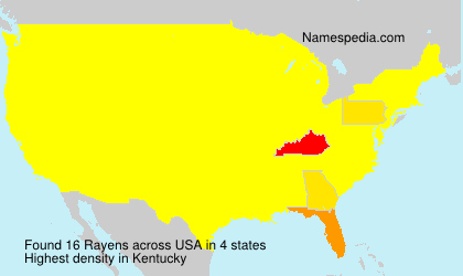 Surname Rayens in USA