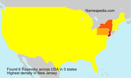 Familiennamen Rayevsky - USA