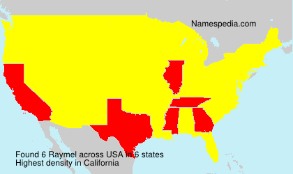 Surname Raymel in USA