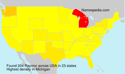 Surname Raymor in USA