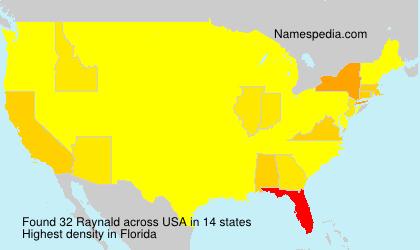 Familiennamen Raynald - USA