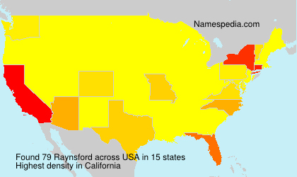 Surname Raynsford in USA