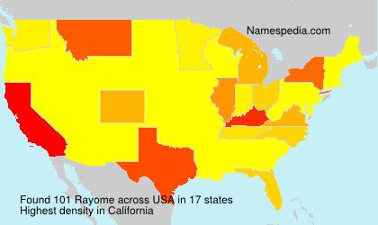 Familiennamen Rayome - USA