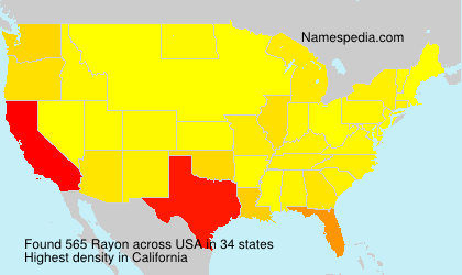 Surname Rayon in USA