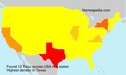 Surname Razu in USA