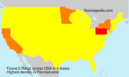 Familiennamen Rdrgz - USA