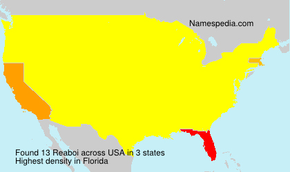 Surname Reaboi in USA