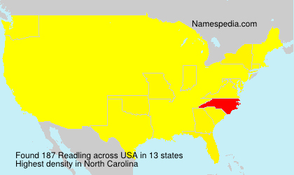 Surname Readling in USA